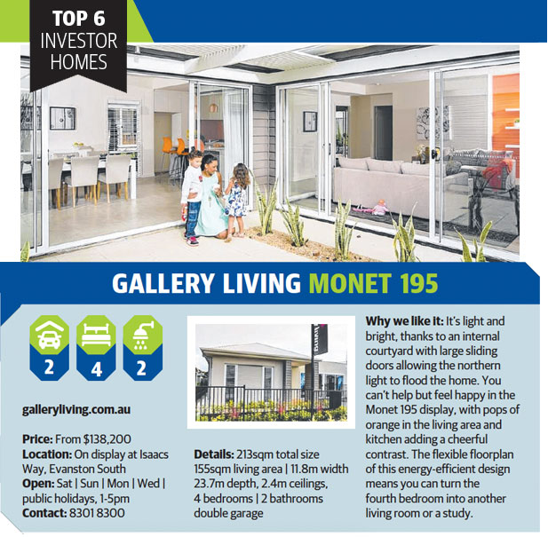 Top 6 investor homes - Monet 195
