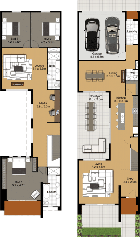 Admin gallery living for Bathroom designs 3m x 2m